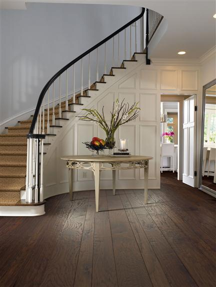 hardwood flooring in entryway